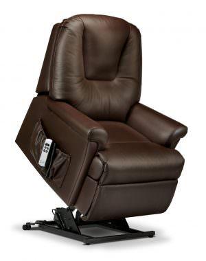 Sherborne Milburn Petite Leather Riser Recliner chair