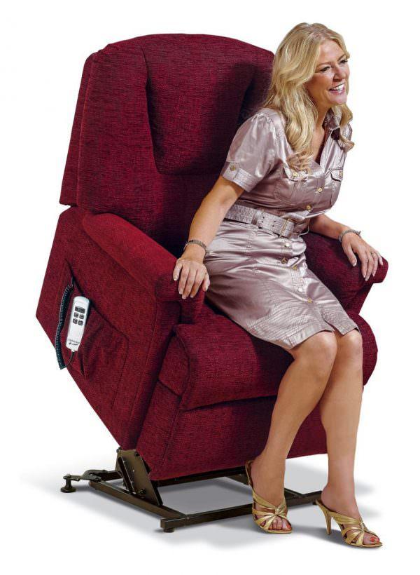 Sherborne Milburn Small Fabric Riser Recliner chair