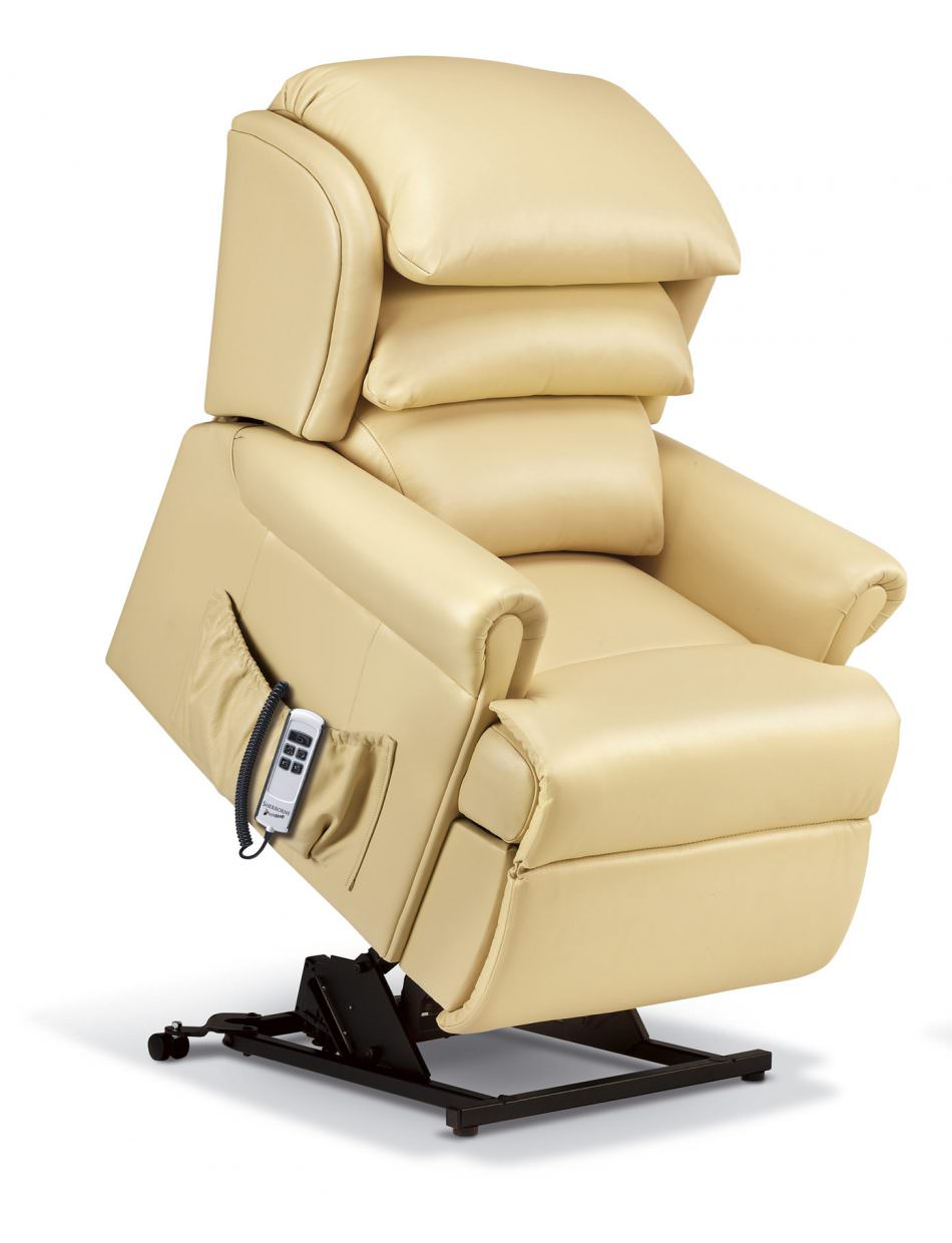 Remarkable Sherborne Windsor Petite Leather Riser Recliner Creativecarmelina Interior Chair Design Creativecarmelinacom