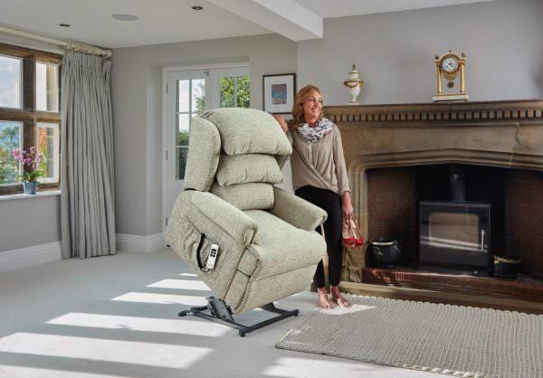 Sherborne Standard Windsor Fabric Riser Recliner chair