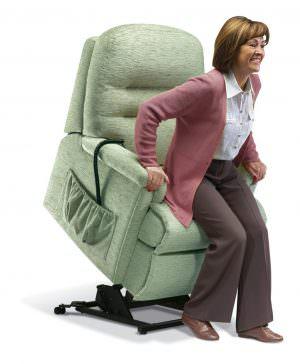 Sherborne Small Keswick Fabric Riser Recliner chair