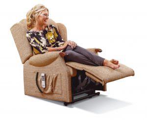 Sherborne Ashford Knuckle Royale Fabric Riser Recliner chair