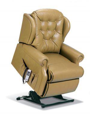 Sherborne Lynton Petite Leather Riser Recliner chair