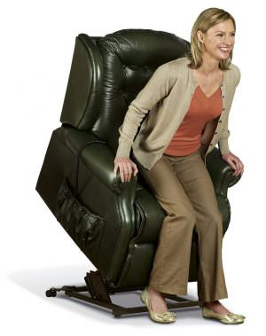 Sherborne Small Lynton Leather Riser Recliner chair