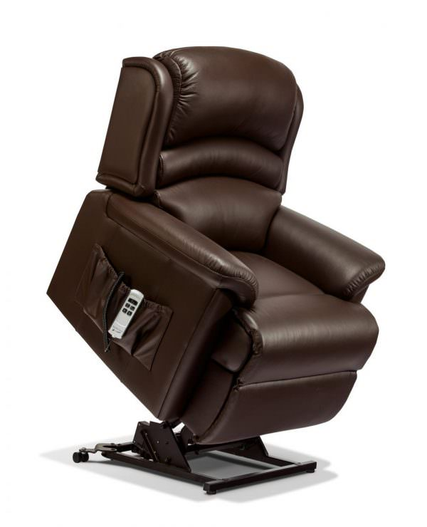 Sherborne Small Olivia Leather Riser Recliner chair