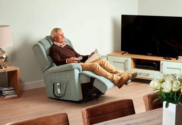 Sherborne Standard Olivia Fabric Riser Recliner chair