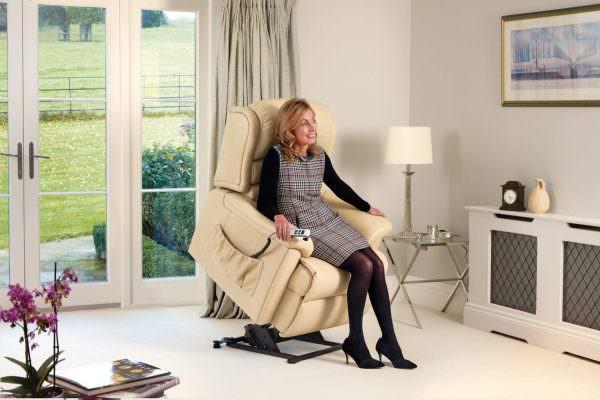Sherborne Standard Olivia Leather Riser Recliner chair