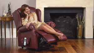 Sherborne Standard Claremont Leather Riser Recliner chair